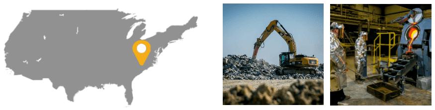 Oceanagold Mine à ciel ouvert de Haile en Caroline du Sud (États-Unis)