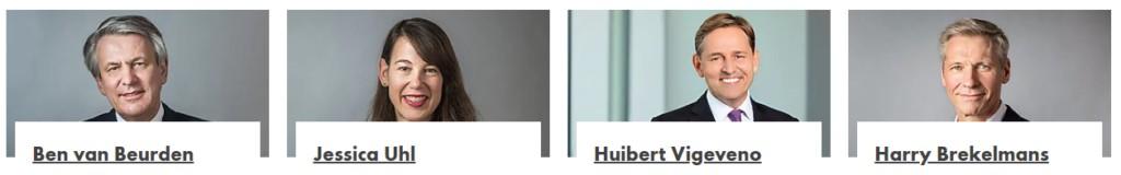 Ben van Beurden, Jessica Uhl, Huibert Vigeveno, Harry Brekelmans