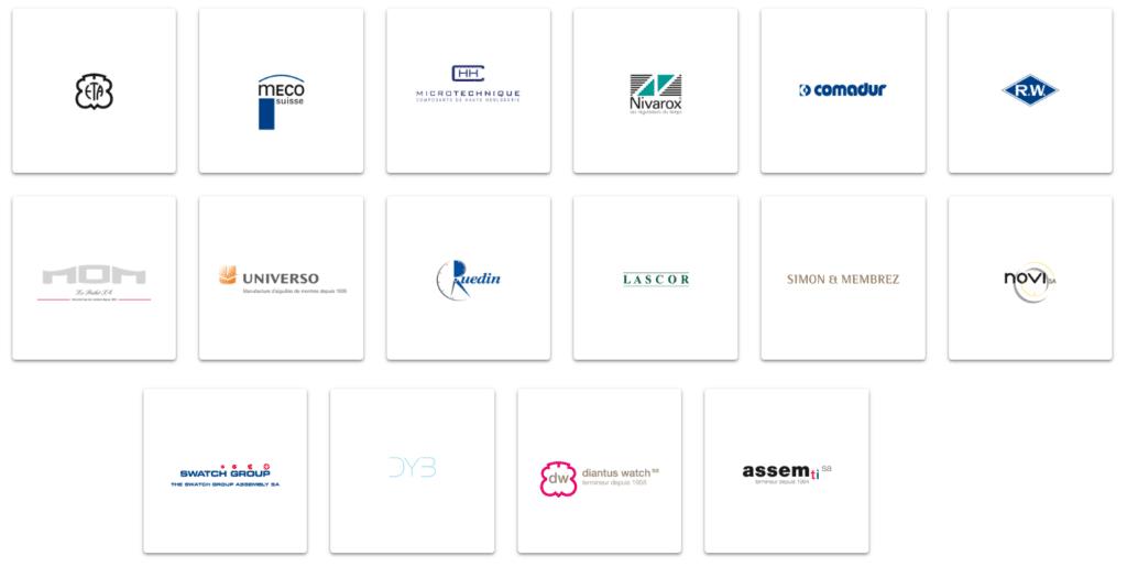 filiales destinées à la production des produits de Swatch Group