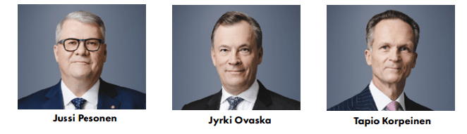 Jussi Pesonen, Jyrki Ovaska, Tapio Korpeinen