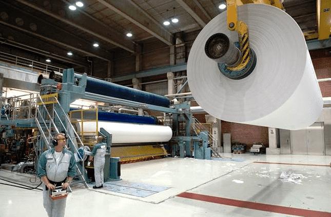 Machine industrielle à papier journal Kaipola 7 d'UPM-Kymmene.