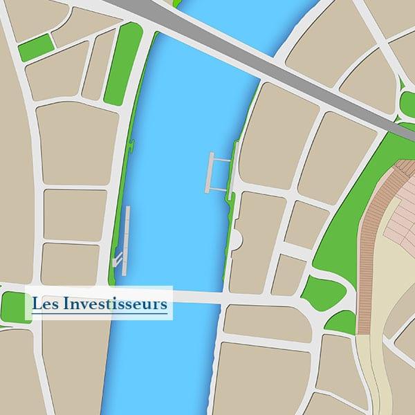 La carte de Londres vu par Google Maps