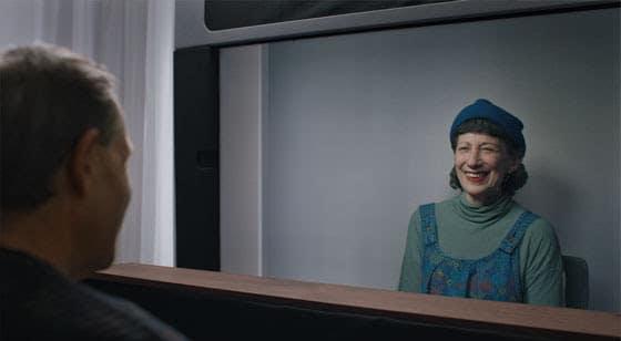 google femme souriante