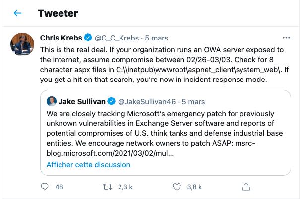 twitter Microsoft Exchange