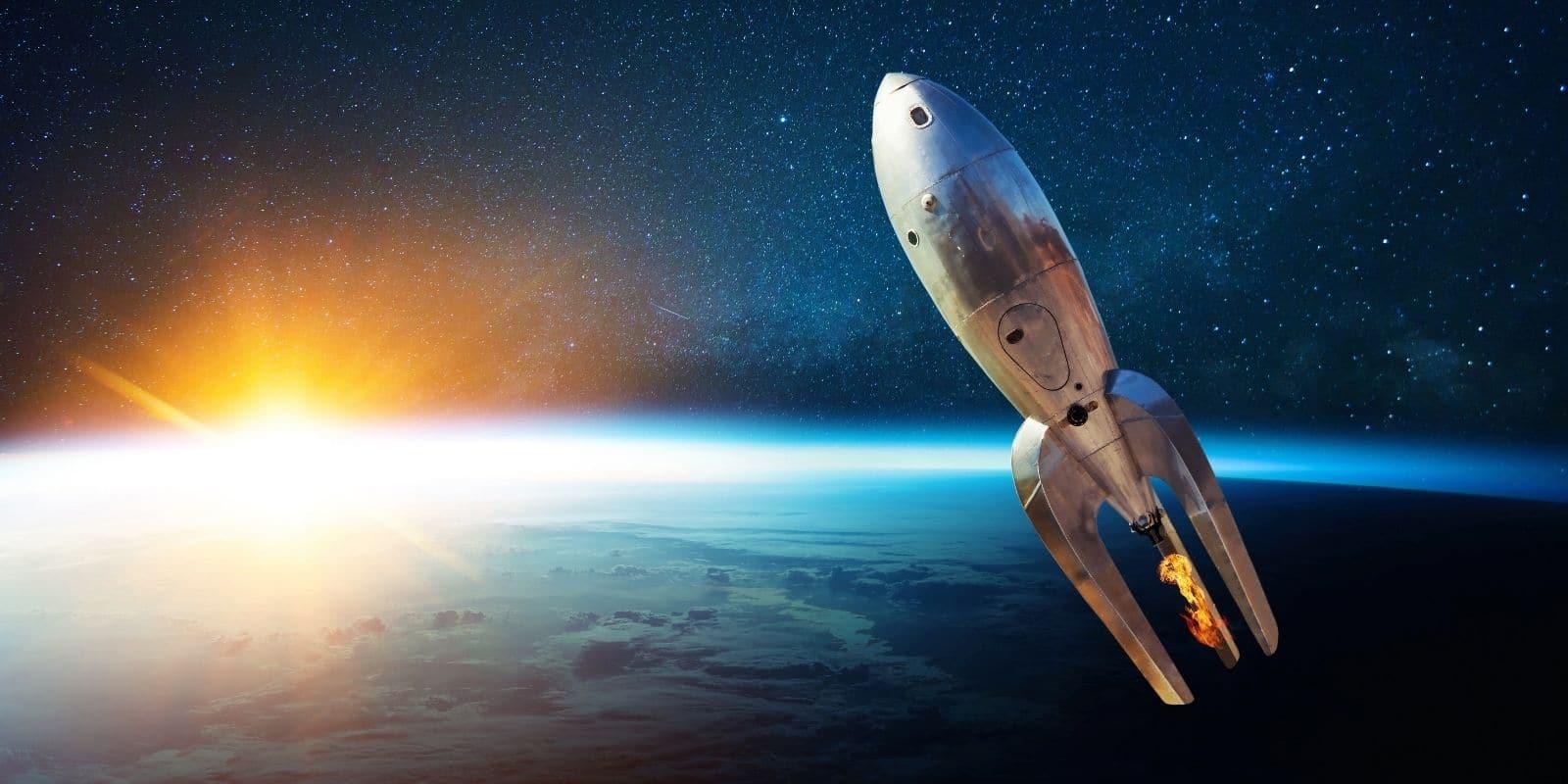 voyage dans l'espace - fusée
