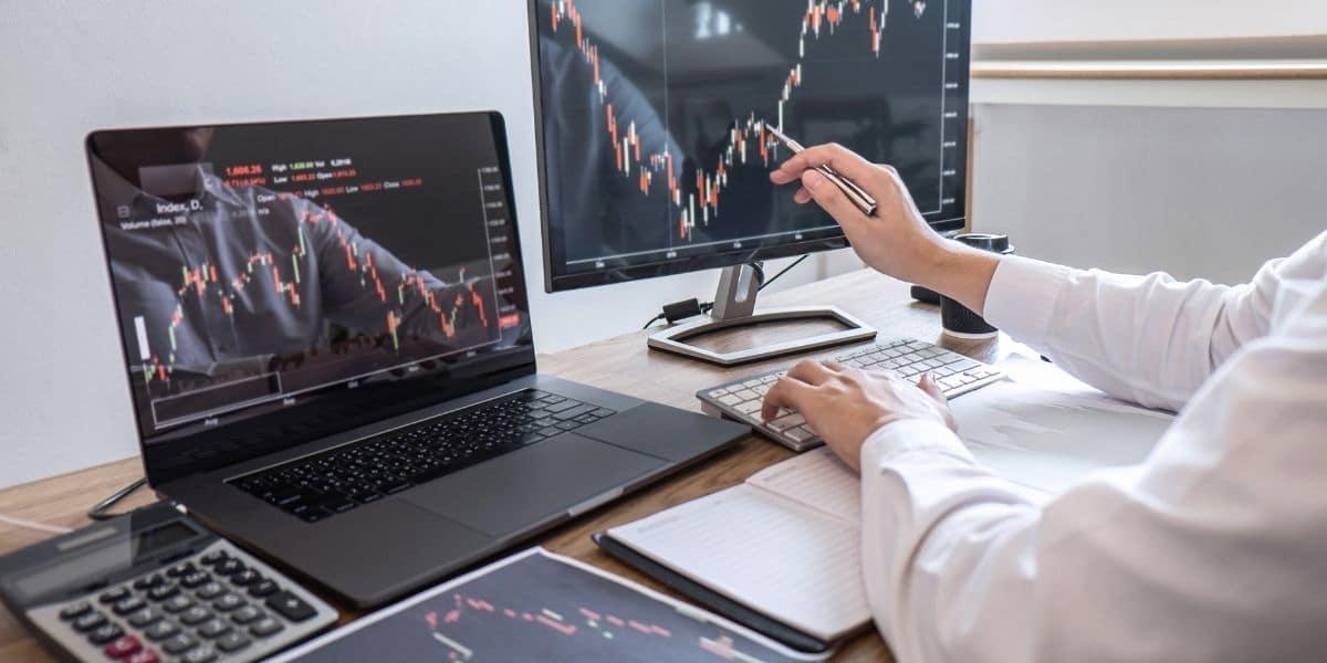 action entreprise analyse graphique