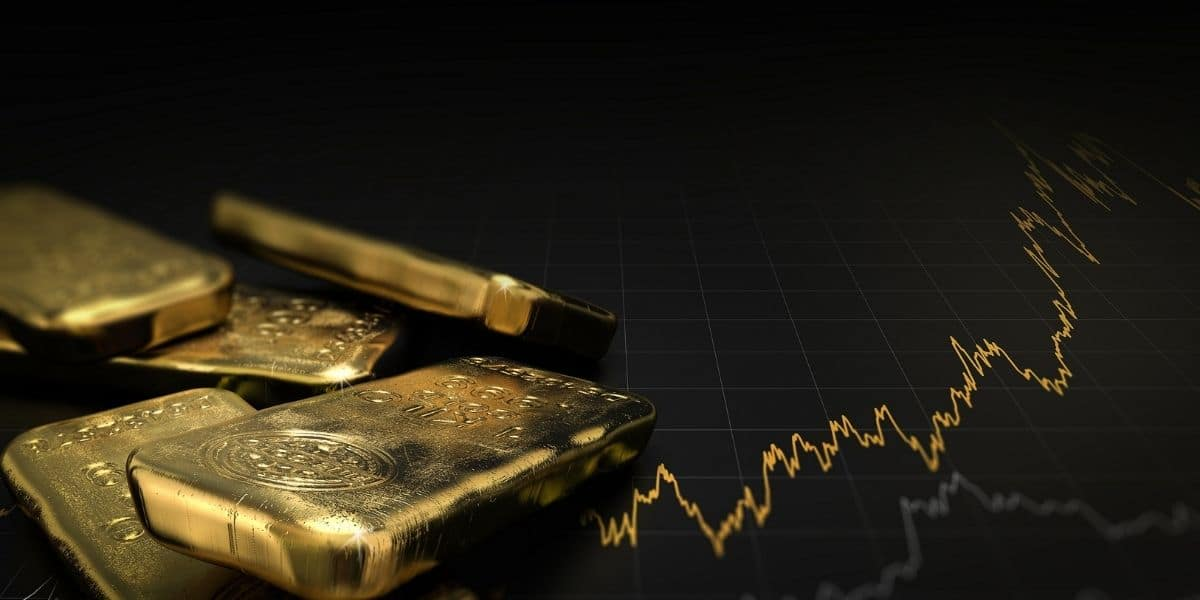 investir dans l'or lingot d'or et graphe