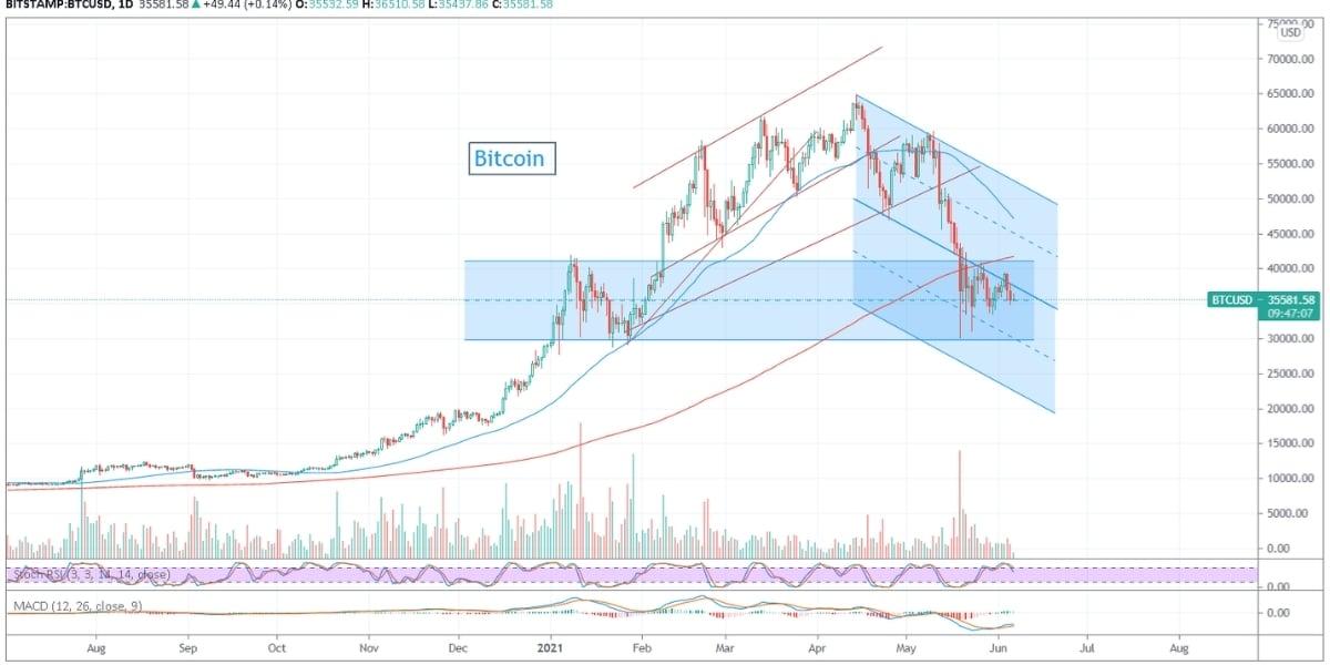 morningbull semaine 23 bitcoin graphique