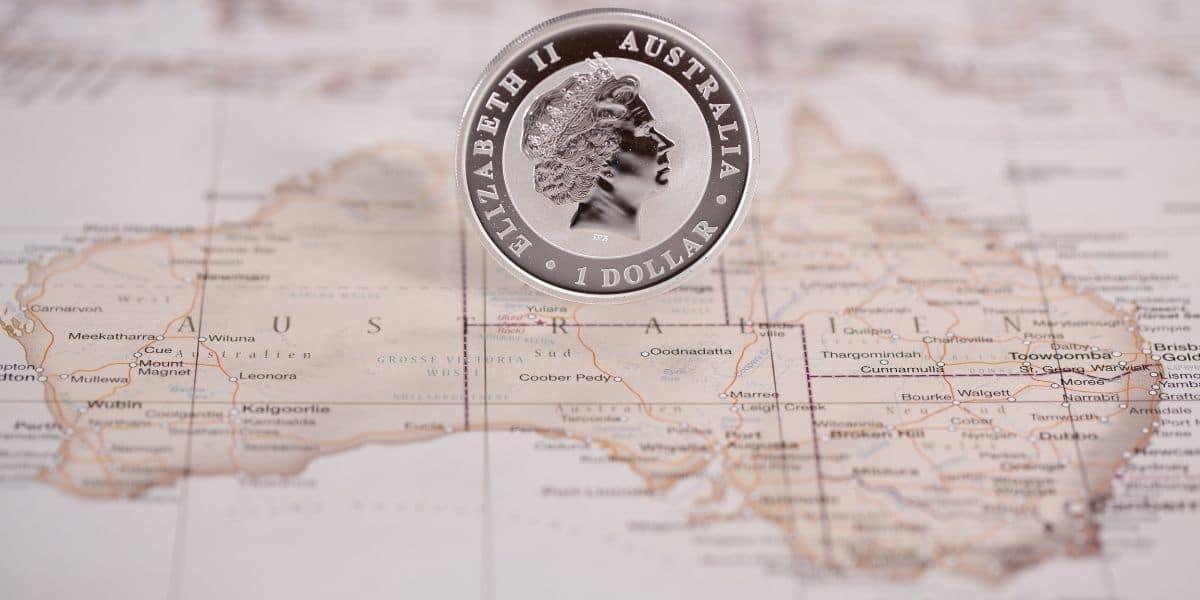 bourse australienne pièce reine elisabeth