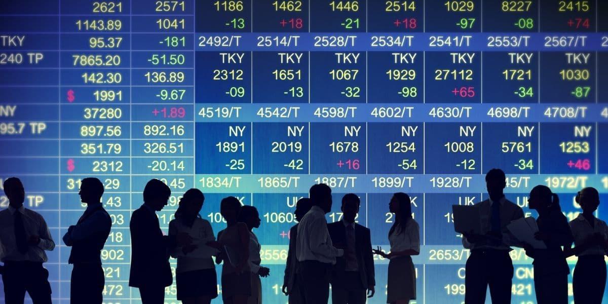 bourse mondiale graphe écran géant