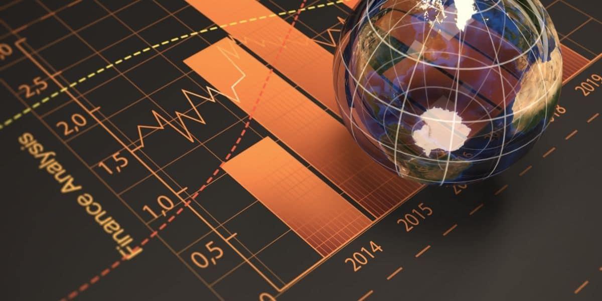 bulle financière graphe haussier